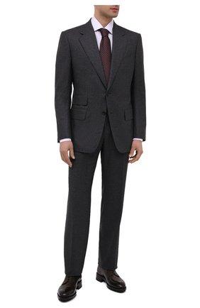 Мужские кожаные дерби BRIONI темно-коричневого цвета, арт. QE1A0L/P6757 | Фото 2