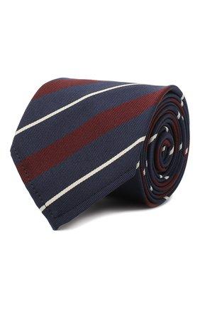 Мужской галстук из шелка и хлопка DSQUARED2 синего цвета, арт. TIM0001 22MJ0397 | Фото 1