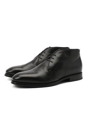 Мужские кожаные ботинки BARRETT черного цвета, арт. 202U007.8/C0RSAR0 | Фото 1