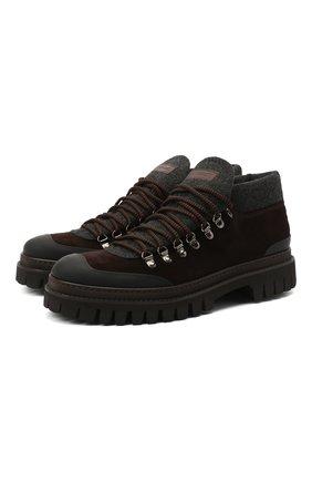 Мужские замшевые ботинки BARRETT коричневого цвета, арт. ASPEN-10969.10/GUMMY | Фото 1 (Подошва: Массивная; Материал внутренний: Текстиль; Мужское Кросс-КТ: Ботинки-обувь, Хайкеры-обувь; Материал внешний: Замша)
