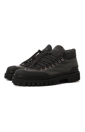 Мужские кожаные ботинки BARRETT черного цвета, арт. ASPEN-10969.8/GUMMY | Фото 1 (Материал внутренний: Текстиль; Подошва: Массивная; Мужское Кросс-КТ: Ботинки-обувь, Хайкеры-обувь)