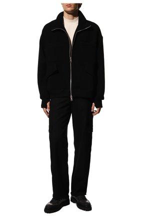 Мужские кожаные ботинки BARRETT черного цвета, арт. ASPEN-10969.8/GUMMY | Фото 2 (Материал внутренний: Текстиль; Подошва: Массивная; Мужское Кросс-КТ: Ботинки-обувь, Хайкеры-обувь)