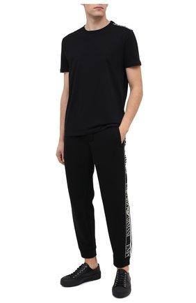Мужские хлопковая футболка CALVIN KLEIN черного цвета, арт. KM0KM00475   Фото 2