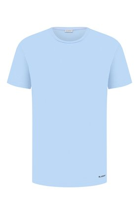 Мужские хлопковая футболка BLUEMINT голубого цвета, арт. EDWARD   Фото 1