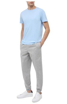 Мужские хлопковая футболка BLUEMINT голубого цвета, арт. EDWARD   Фото 2
