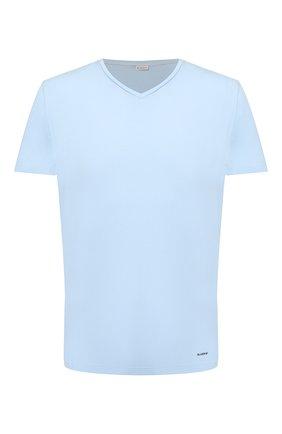Мужские хлопковая футболка BLUEMINT голубого цвета, арт. ELVIS   Фото 1