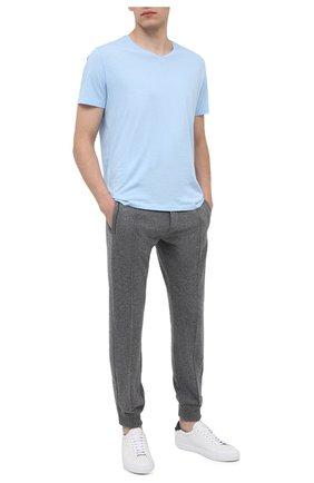 Мужские хлопковая футболка BLUEMINT голубого цвета, арт. ELVIS   Фото 2