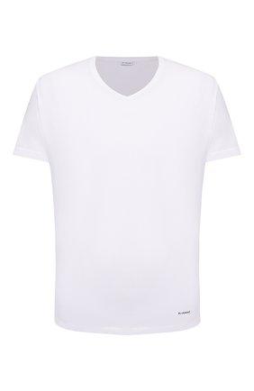 Мужские хлопковая футболка BLUEMINT белого цвета, арт. ELVIS   Фото 1