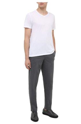 Мужские хлопковая футболка BLUEMINT белого цвета, арт. ELVIS   Фото 2
