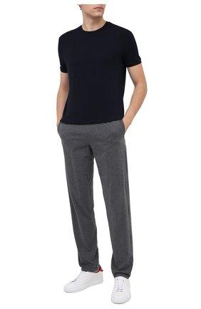 Мужская футболка из вискозы BLUEMINT темно-синего цвета, арт. ATIL | Фото 2