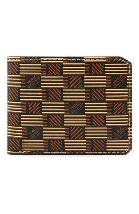 Мужской кожаное портмоне MOREAU коричневого цвета, арт. PW3C03I0V0STSTBE | Фото 1