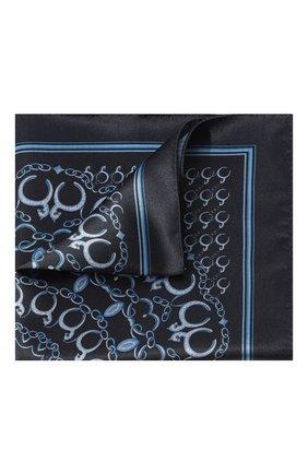 Мужской шелковый платок LANVIN темно-синего цвета, арт. 3800/HANDKERCHIEF   Фото 1