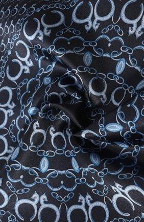Мужской шелковый платок LANVIN темно-синего цвета, арт. 3800/HANDKERCHIEF   Фото 2