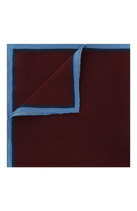 Мужской шелковый платок LANVIN бордового цвета, арт. 3803/HANDKERCHIEF | Фото 1