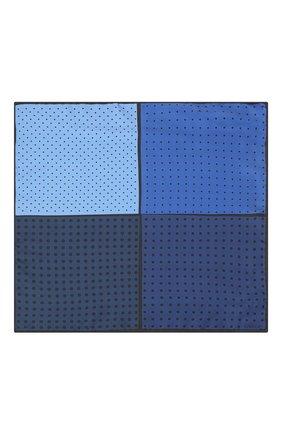Мужской шелковый платок LANVIN темно-синего цвета, арт. 3809/HANDKERCHIEF   Фото 2