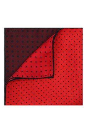 Мужской шелковый платок LANVIN бордового цвета, арт. 3809/HANDKERCHIEF | Фото 1