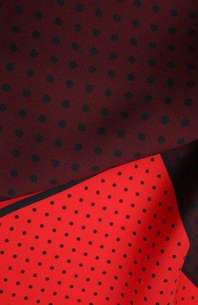 Мужской шелковый платок LANVIN бордового цвета, арт. 3809/HANDKERCHIEF | Фото 2
