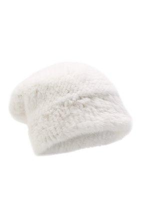 Женская шапка из меха норки KUSSENKOVV белого цвета, арт. 51750001202 | Фото 1