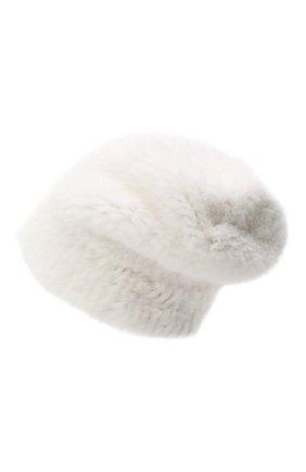 Женская шапка из меха норки KUSSENKOVV белого цвета, арт. 51750001202 | Фото 2