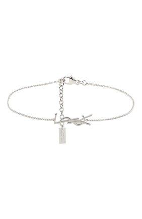 Женский браслет charm SAINT LAURENT серебряного цвета, арт. 635533/Y1500 | Фото 1