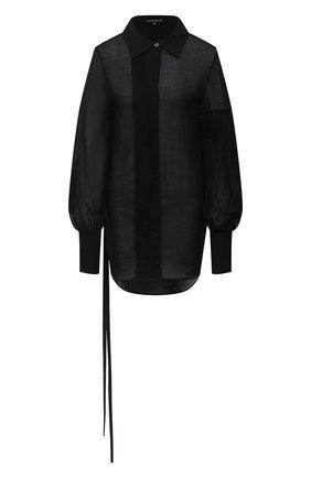 Женская блузка из хлопка и кашемира ANN DEMEULEMEESTER черного цвета, арт. 2002-2010-P-121-099   Фото 1