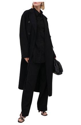 Женская блузка из хлопка и кашемира ANN DEMEULEMEESTER черного цвета, арт. 2002-2010-P-121-099   Фото 2