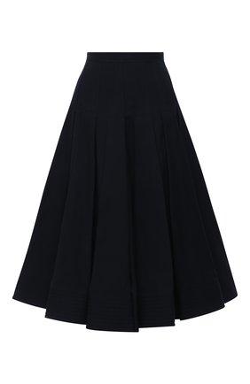 Женская юбка из хлопка и шелка VALENTINO черного цвета, арт. UB0RA6S65VB | Фото 1