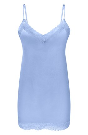 Женский шелковый топ MAX&MOI голубого цвета, арт. PERH0RTA | Фото 1