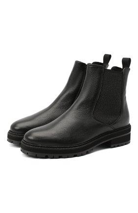 Женские кожаные челси PERTINI черного цвета, арт. 202W30359C3 | Фото 1
