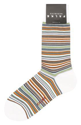 Мужские хлопковые носки microblock FALKE белого цвета, арт. 14041 | Фото 1