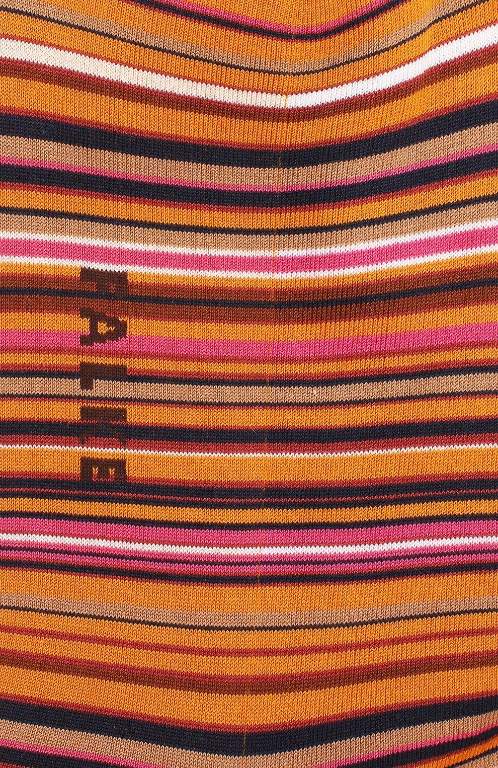 Мужские хлопковые носки microblock FALKE оранжевого цвета, арт. 14041 | Фото 2 (Кросс-КТ: бельё; Материал внешний: Хлопок)