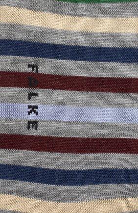Мужские носки из смеси шерсти и хлопка tinted stripe FALKE светло-серого цвета, арт. 13279 | Фото 2