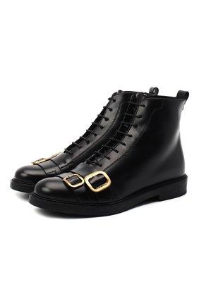 Женские кожаные ботинки TOD'S черного цвета, арт. XXW59C0DL920G9 | Фото 1