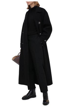 Женские кожаные ботинки TOD'S черного цвета, арт. XXW59C0DL920G9 | Фото 2