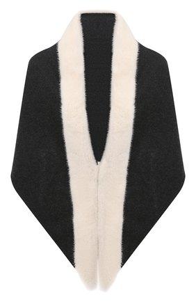 Женский капюшон KUSSENKOVV серого цвета, арт. 199301246039 | Фото 1