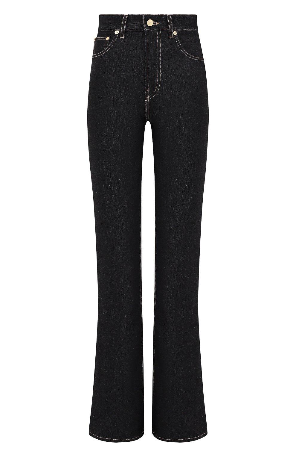 Женские джинсы JACQUEMUS темно-синего цвета, арт. 203DE01/137390 | Фото 1