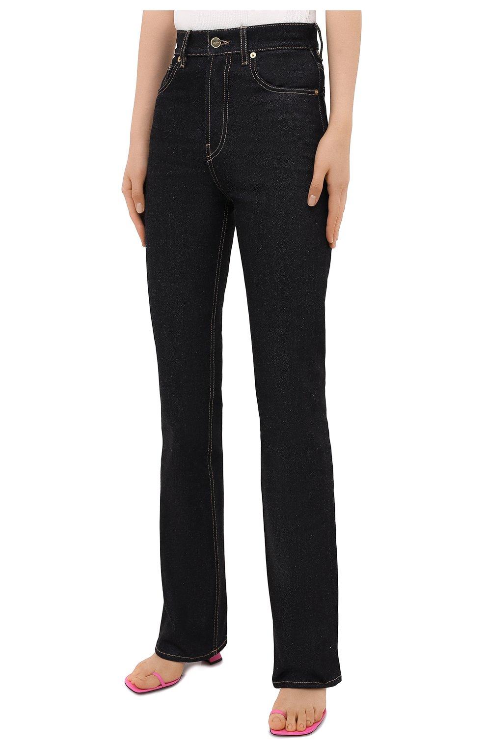 Женские джинсы JACQUEMUS темно-синего цвета, арт. 203DE01/137390 | Фото 3