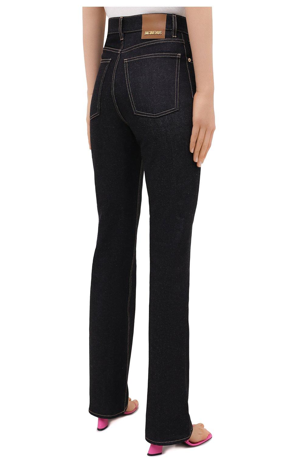 Женские джинсы JACQUEMUS темно-синего цвета, арт. 203DE01/137390 | Фото 4