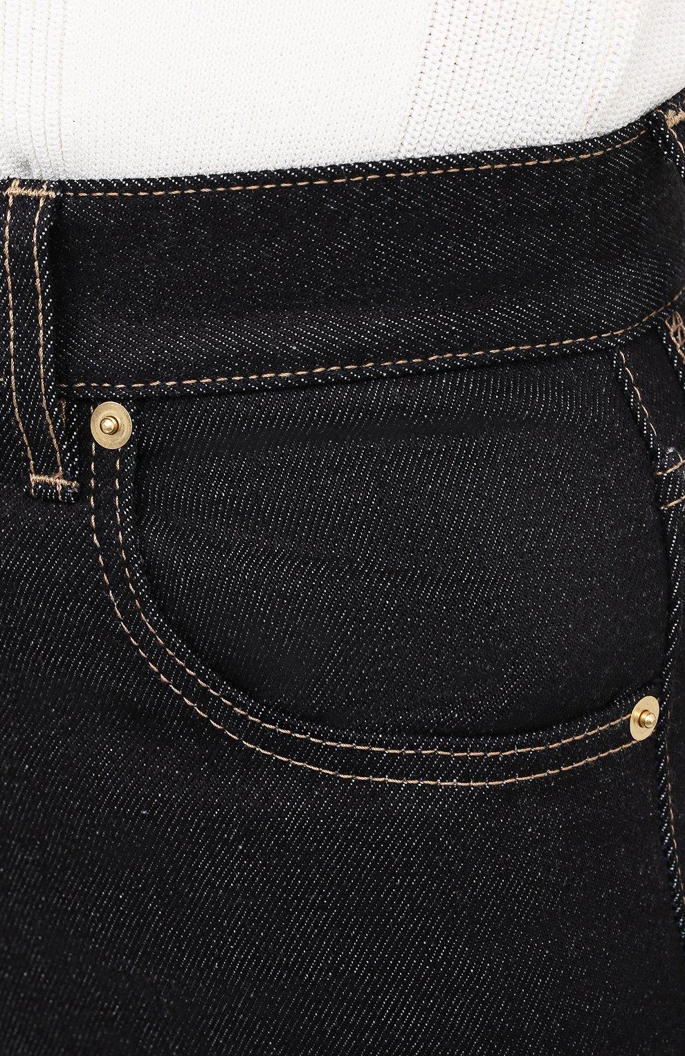 Женские джинсы JACQUEMUS темно-синего цвета, арт. 203DE01/137390 | Фото 5