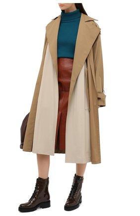 Женские кожаные ботинки BALMAIN коричневого цвета, арт. UN0C502/LVRE | Фото 2