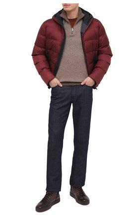 Мужские кожаные кеды SANTONI темно-коричневого цвета, арт. MBGL20870TMMPGSXT60 | Фото 2