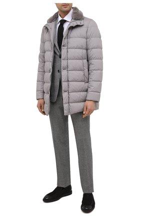 Мужские кожаные лоферы SANTONI черного цвета, арт. MGDG17101NERACLUN01 | Фото 2
