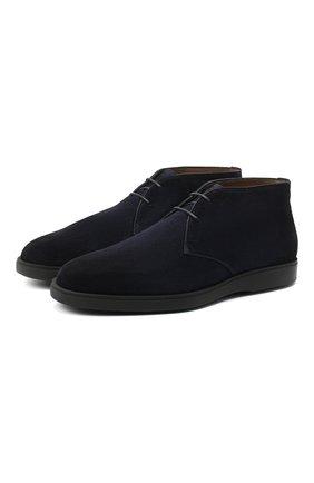 Мужские замшевые ботинки SANTONI темно-синего цвета, арт. MGDT17297NERAPMSU60 | Фото 1