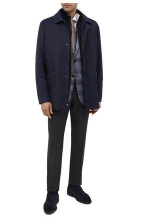 Мужские замшевые ботинки SANTONI темно-синего цвета, арт. MGDT17297NERAPMSU60 | Фото 2