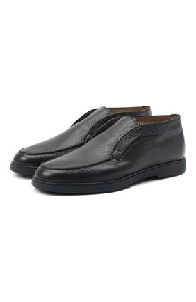 Мужские кожаные ботинки SANTONI темно-синего цвета, арт. MGYA16715ABIAADCU60 | Фото 1