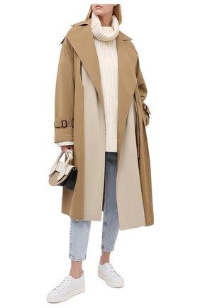 Женские кожаные кеды SANTONI белого цвета, арт. WBCE60713BARPSSEI50 | Фото 2