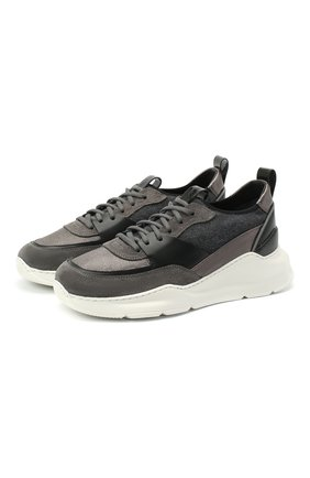 Женские комбинированные кроссовки SANTONI темно-серого цвета, арт. WBKI60744AVNRTCYG62 | Фото 1