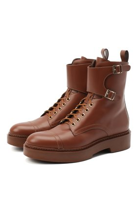 Женские кожаные ботинки SANTONI коричневого цвета, арт. WTHW59003CU0NUDYC60 | Фото 1