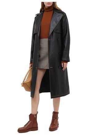 Женские кожаные ботинки SANTONI коричневого цвета, арт. WTHW59003CU0NUDYC60 | Фото 2