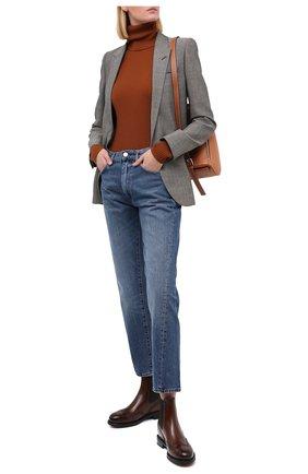Женские кожаные челси SANTONI коричневого цвета, арт. WTWK58153SMCDLESC45 | Фото 2